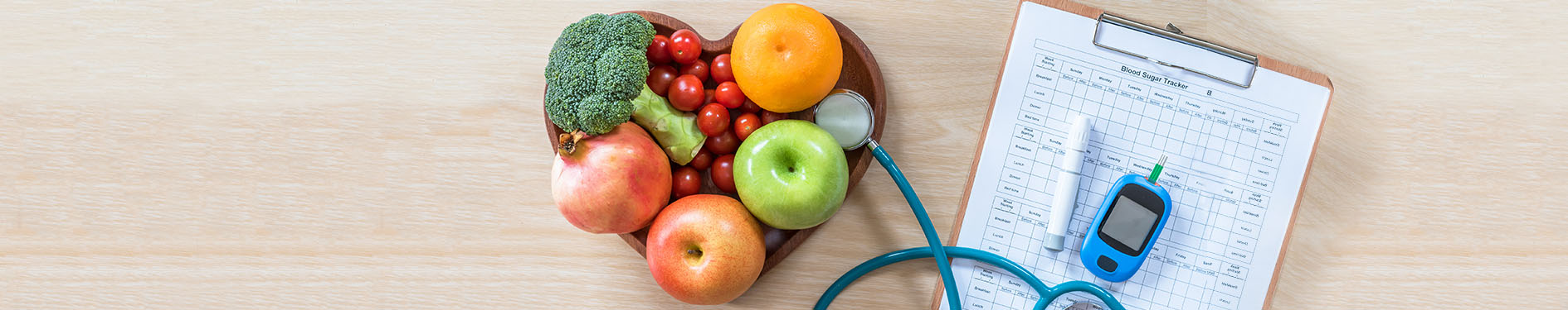 owoce na biurku